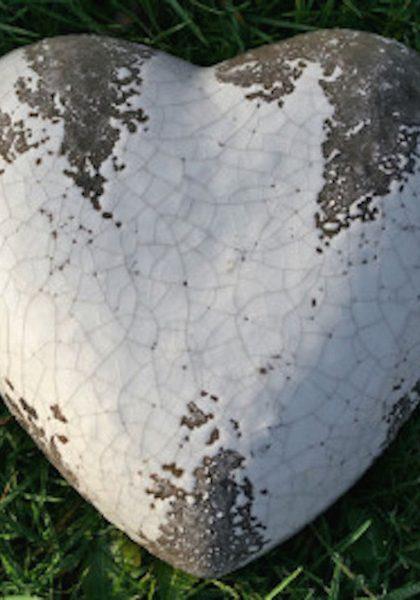 Декор Керамическое сердце, 5986800, 7х18 см