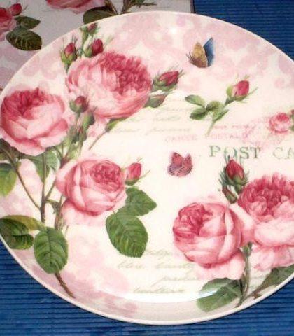 Посуда, серия 22Романтичные розы%22, тарелка десертная, 19 см, 324RMR 1