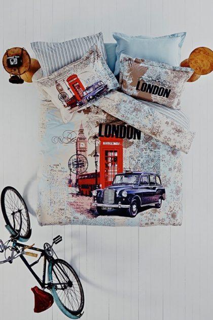 Постельное белье ранфорс City LONDON
