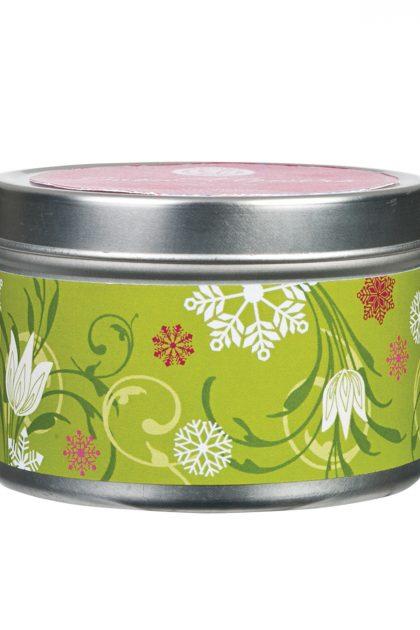 Свеча в табакерке Подснежники Snow Flowers