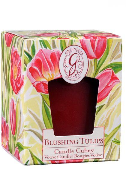 Свеча-кубик Цветущие Тюльпаны Blushing Tulips