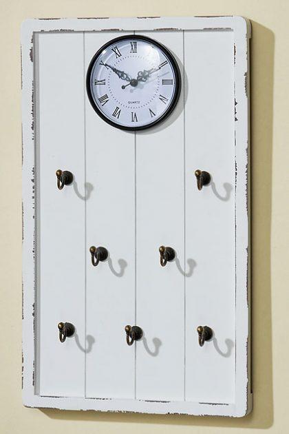 Часы на деревянной основе 8666300, 27х5х45 см.
