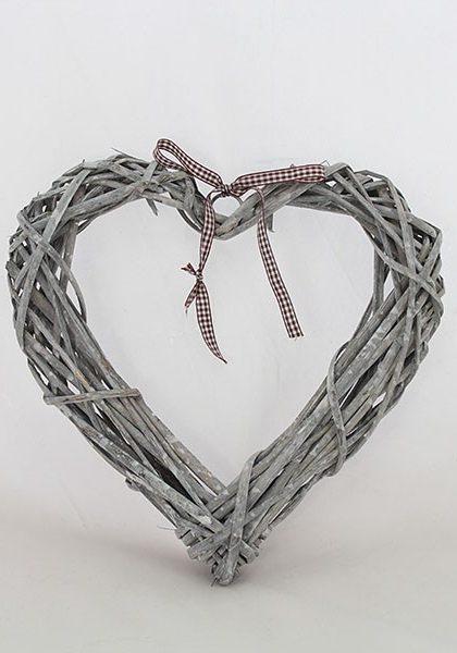 """Украшение, """"Декоративное ротанговое сердечко"""" RD701A, 30х30х5 см"""