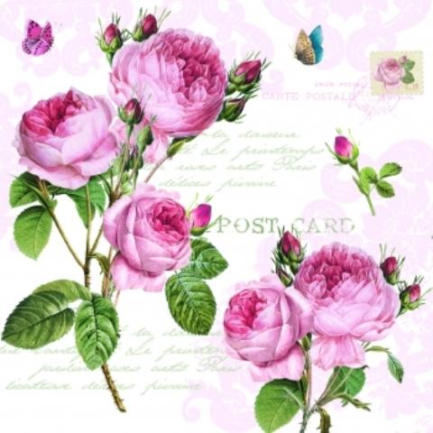 """Аксессуар, серия """"Романтичные розы"""", салфетки, 33х33 см, 414RMR"""
