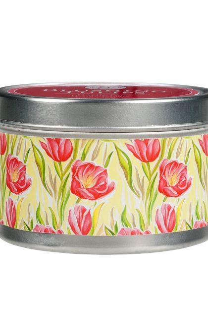 Свеча в табакерке Цветущие Тюльпаны Blushing Tulips