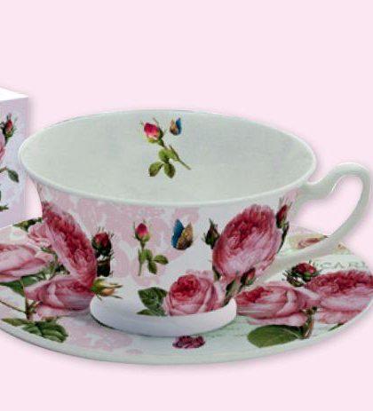 """Посуда, серия """"Романтичные розы"""", чайная пара, 0,2 л, 322RMR"""