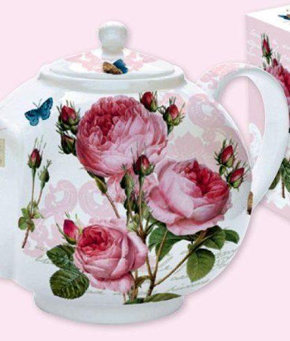 """Посуда, серия """"Романтичные Розы"""", чайник с ситечком, 1 л, 321RMR"""