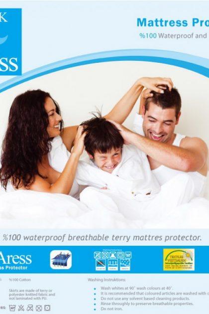 Наматрасник непромокаемый ARESS, детский, хлопок, антибактериальный